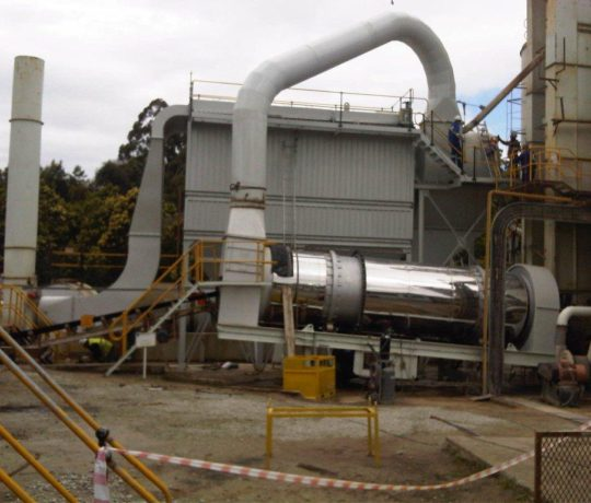 Drum & Baghouse built and installed for plant in George